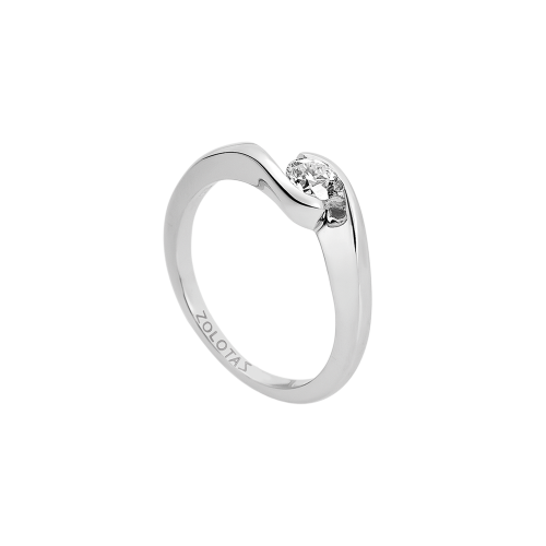 LOVE ROCKS solitaire ring